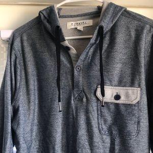 Ezekiel denim print hoodie